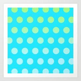 It's raining circles Art Print