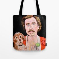 """classy Tote Bags featuring """"Stay Classy"""" by Jordan Soliz"""