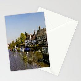 Tudor homes along River Avon. Stationery Cards