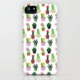 lovely cactus iPhone Case