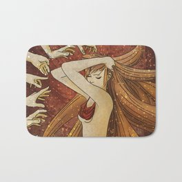 Abstract Apple Asylum Apotheosis ~ Oasis of the Historic Embrace Bath Mat