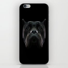 Cane Corso dog low poly. iPhone Skin