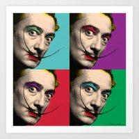 salvador dali Art Prints featuring Salvador Dali  by mark ashkenazi