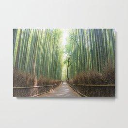 Arashiyama Bamboo Forest Metal Print