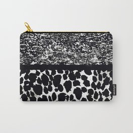 Animal Print Leopard Gray White and Black Carry-All Pouch