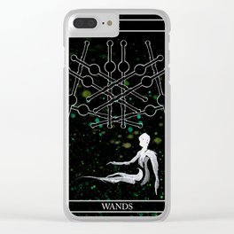 A Tarot of Ink 10 of Wands Clear iPhone Case
