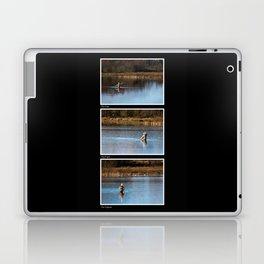 Gone Fishing Triptych Black Laptop & iPad Skin