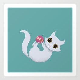 Mischievous kitty Art Print