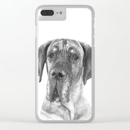 Black and White Great Dane Clear iPhone Case
