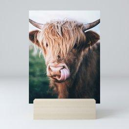scottish highlander Mini Art Print