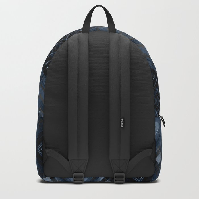 Abstract black blue pattern . Backpack