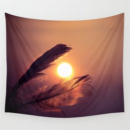 Sunset Feathers Wall Tapestry
