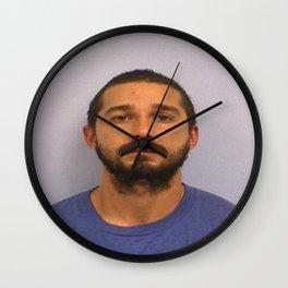 Shia LaBeouf Mugshot Wall Clock