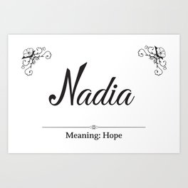 Nadia - Name Art Print