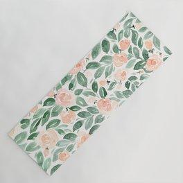 "Loose watercolor florals, ""Miriam"" Yoga Mat"