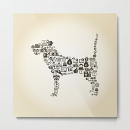 Dog business Metal Print