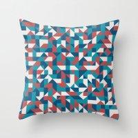 native Throw Pillows featuring Native by Matt Borchert