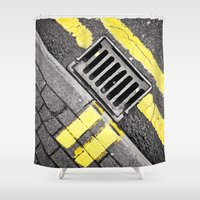 grid Shower Curtains featuring Grid by premedia