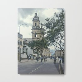 Cathedral at Historic Center of Bogota Colombia Metal Print
