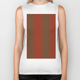 Red and Green Stripes Biker Tank