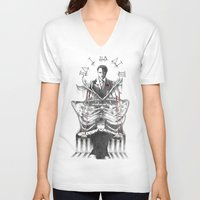hannibal V-neck T-shirts featuring Hannibal by Lunzury