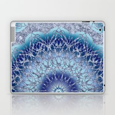 Frosted Lotus Mandala Blue Laptop & iPad Skin