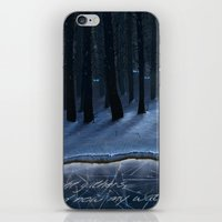 thrones iPhone & iPod Skins featuring And Now My Watch Begins – Game Of Thrones Fan Art by Nicole Cleary