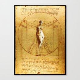 Vitruvio fitness Canvas Print