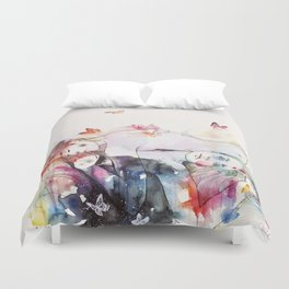 dreamy insomnia Duvet Cover
