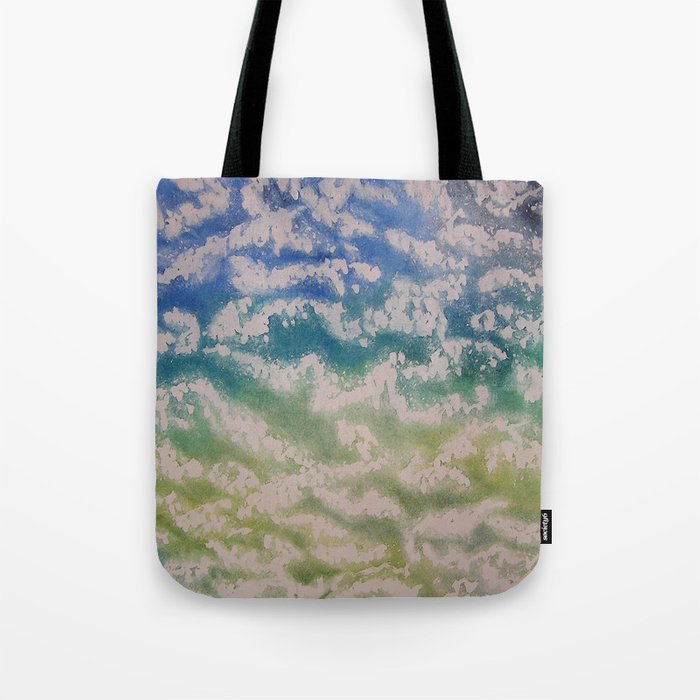 Ocean from Above / Watercolor Painting Tote Bag
