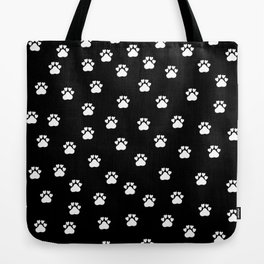 Cat's hand drawn paws in black and white Tote Bag