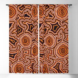 Authentic Aboriginal Art - Pathways Blackout Curtain