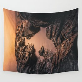 Sunset at Roseland Portrait Wall Tapestry
