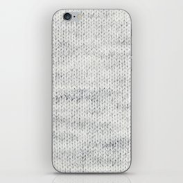 Gray Wool iPhone Skin