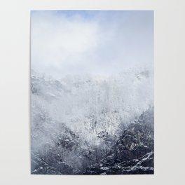 Frozen Carpathian mountains Romania in early winter Poster