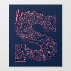 Monster Doodle Canvas Print