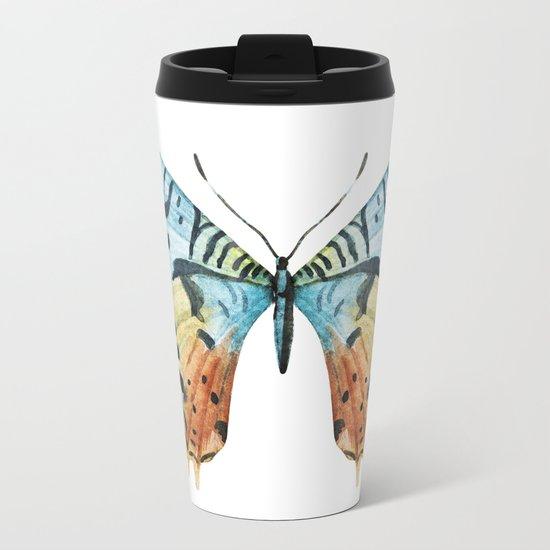 Butterfly 12 Metal Travel Mug