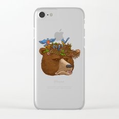 Mr Bear's Nature Hat 2017 Clear iPhone Case