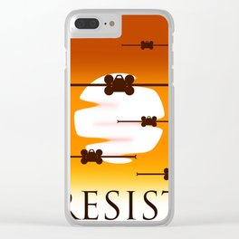 Rebel Resistence Clear iPhone Case