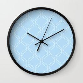 Double Helix - Light Blues #100 Wall Clock