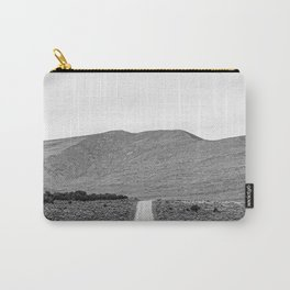 Road Outta Town // Black and White Landscape Photograph Going Out to Nowhere Peaceful Scenery Carry-All Pouch