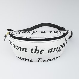 Poe The Raven Lenore Quote Gothic Fanny Pack