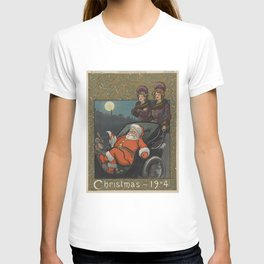 Vintage Santa Claus Preparing on Christmas Eve (1904) T-shirt