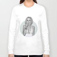 lindsay lohan Long Sleeve T-shirts featuring LINDSAY by Kat Winroom