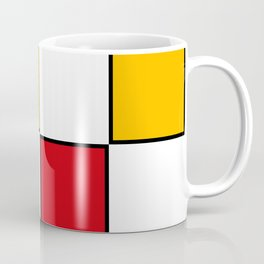 Minimal Abstract Geometric Art in Mondrian Style Coffee Mug