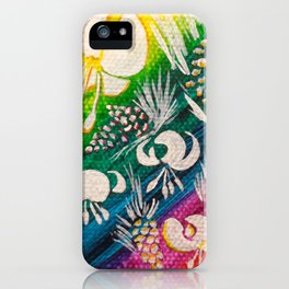 Leaves on the World Tree: Bosniak Pine and Golden Lily iPhone Case