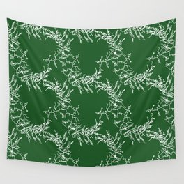 Green Seaweed Pattern Wall Tapestry