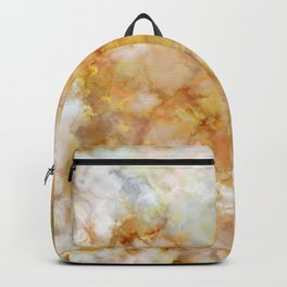 Gold Rippled Marble Backpack