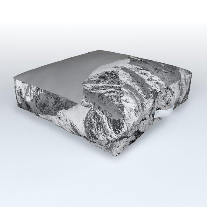 Mountain Glacier Two Outdoor Floor Cushion