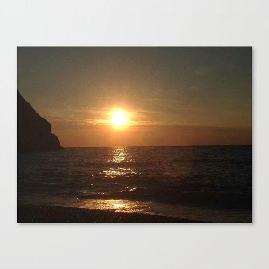 Italian Sunset 2 Canvas Print